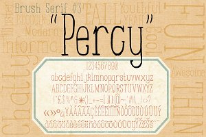 Brush Serif - Percy *Hand Painted*