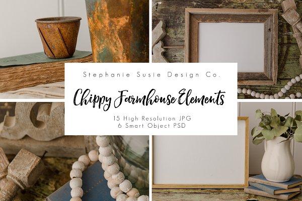 Chippy Farmhouse Elements Bundle Psd Mockups Templates