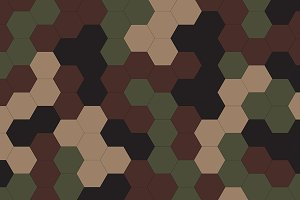 Hexagon green geometric camo