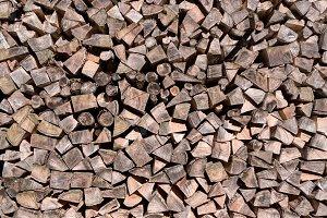 Chopped fire wood logs