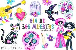 Dia De Los Muertos Clipart Pack