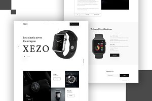 Xezo Watch Landing Page