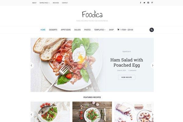 Foodica - Food Recipes WP Theme