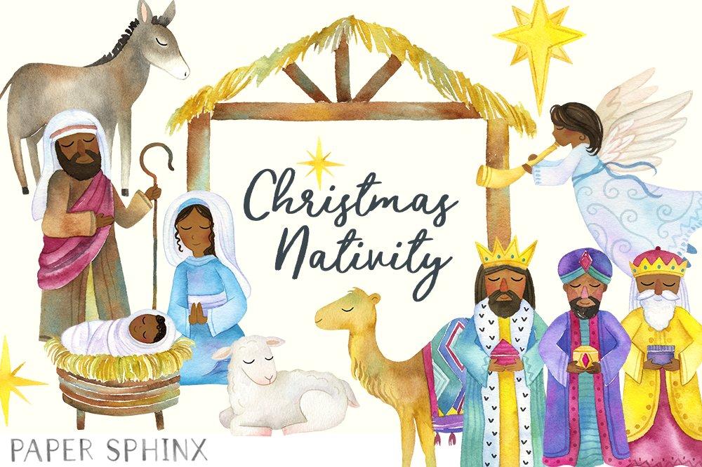 Black Nativity Christmas Clipart ~ Illustrations ...