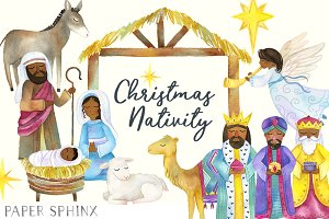 Black Nativity Christmas Clipart