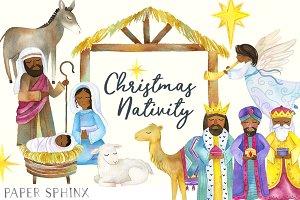 Black Nativity Christmas Clipart