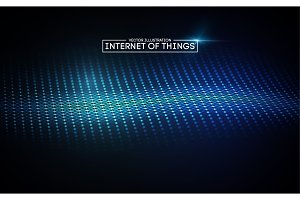 Internet of things background. Iot