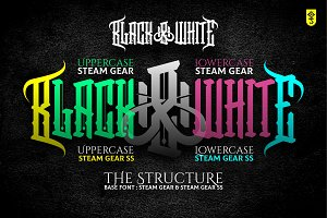 Steam Gear (Duo Font) SS