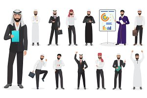 Arab Businessman character poses