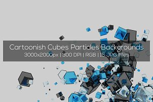 Cartoonish Cubes Backgrounds