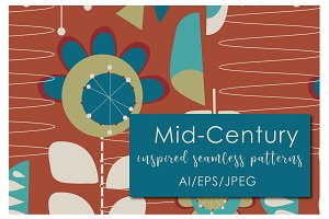 Mid Century Seamless Patterns