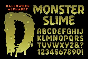 Monster Slime Halloween Alphabet