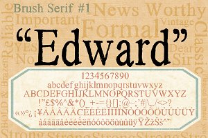 Brush Serif - Edward *HAND PAINTED*