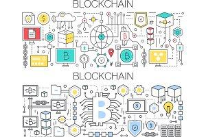 Crypto blockchain tech concept