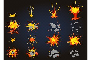 Game cartoon boom explosion effect