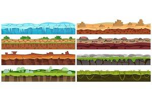 Game ground landscape design set