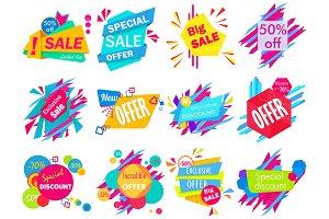 Sale offer announcements set