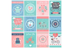 Wedding template cards, invitations.