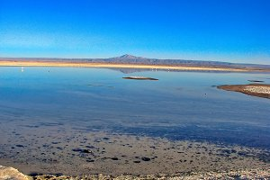Scenic Atacama Desert views and land