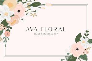 Ava Floral - Botanical Set