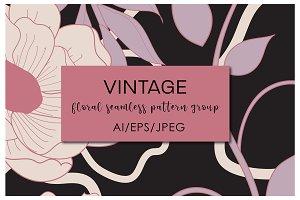 Vintage Seamless Patterns