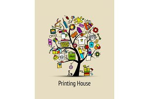 Printing house, sketch for your