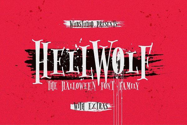 Serif Fonts: wubstudio - Hellwolf Typeface ( 30% Off )