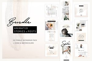 BUNDLE: Animated Posts & Stories