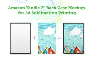 Amazon Kindle 7 Back 2d Case Mockup