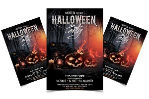 Halloween Event - PSD Flyer Template