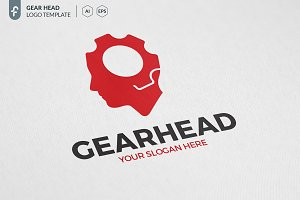 Gear Head Logo