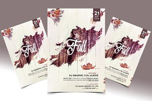 The Fall - PSD Flyer Template