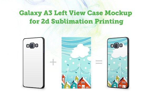 Samsung GalaxyA3 Left 2d case Mockup