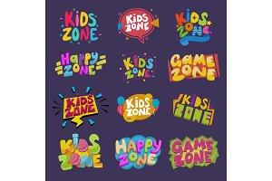Game room vector kids playroom