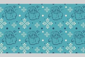 Christmas, seamless pattern, retro
