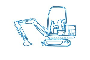Mechanical Digger Mono Line
