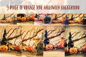 9 vintage tone Halloween background