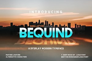 BEQUIND - A MODERN DYSPLAY FONT
