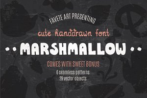 Marshmallow - Cute Handdrawn Font