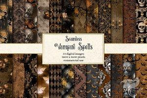 Vampire Spells Digital Paper