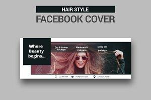 Hair Style Facebook Cover - SK