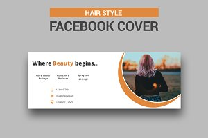 Hair Style Facebook Cover - SK