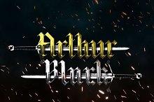 Arthur Black: Modern Black Letter by  in Blackletter Fonts