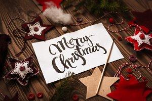 Happy Christmas lettering inscriptio