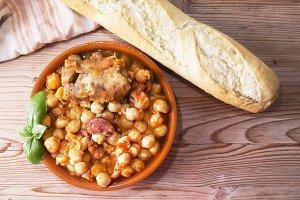 casserole with chickpeas