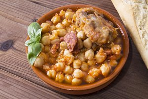 casserole with chickpeas
