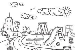 Doodle Children Playground Concept