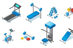 Isometric Fitness Equipment Set