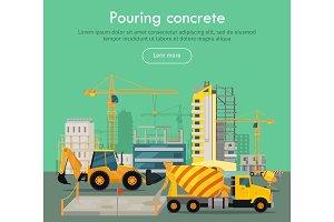 Pouring Concrete Conceptual Flat