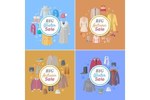 Seasonal Sales Vector Concepts in